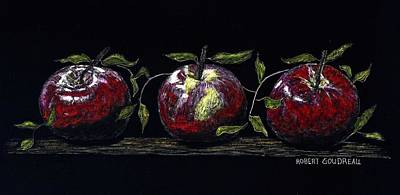 Painting - Three Macs by Robert Goudreau