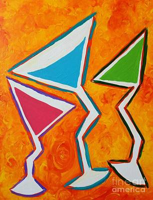 Martini Royalty-Free and Rights-Managed Images - Three Martinis by Melissa Darnell Glowacki