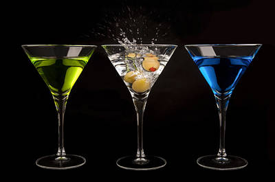 Photograph - Three Martinis by Richard ONeil