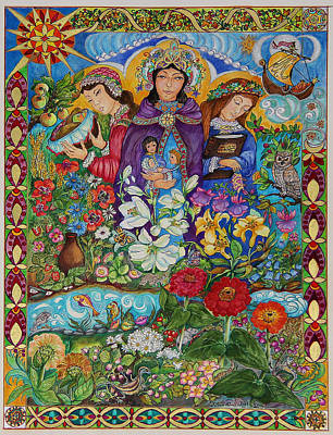 Nurturer Painting - Three Marys by Dorothea  Morgan