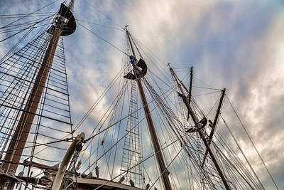 Photograph - Three Masted Rigging by Dale Kincaid