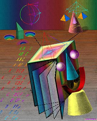 Surrealism Digital Art - Three Mathematicians by Eric Edelman