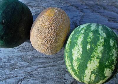 Three Melon Art Print by Mark Victors