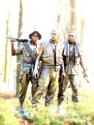 Digital Art - Three Men In Bronze by Angelia Hodges Clay