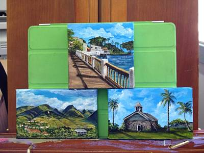 Painting - Three Minis by Darice Machel McGuire