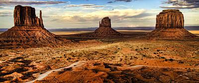 Three Mittens - Monument Valley  Arizona Art Print by Jon Berghoff