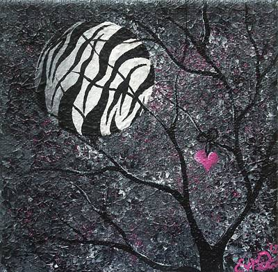 Three Moons Series - Zebra Moon Original by Oddball Art Co by Lizzy Love