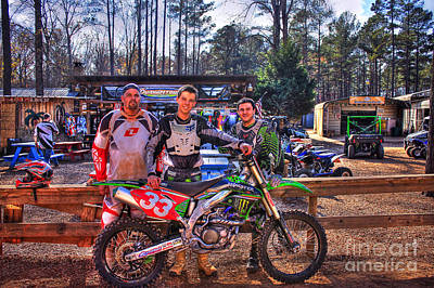 Photograph - Durhamtown Plantation And Three Motocross Friends by Reid Callaway