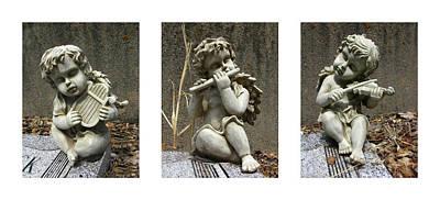 Photograph - Three Musicians Triptych  by Peter Piatt