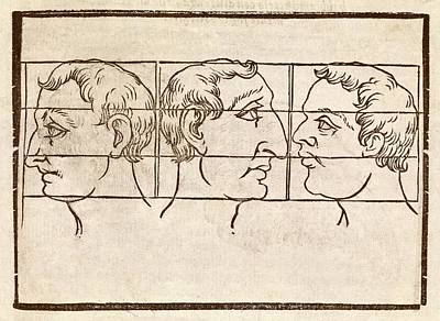 Three Nose Types Art Print by Middle Temple Library