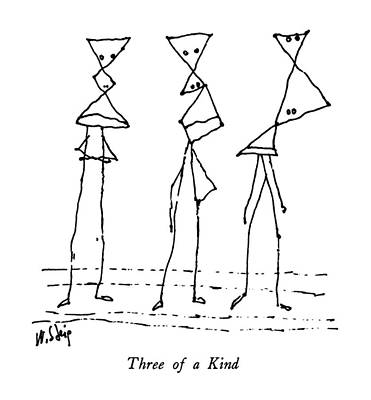 Three Of A Kind Drawing - Three Of A Kind by William Steig