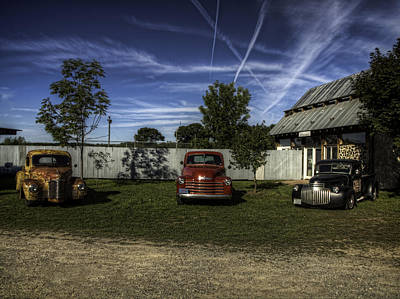 Three Old Timers Art Print by Thomas Young