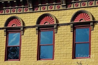 Photograph - Three Old Windows by Kathy Baccari