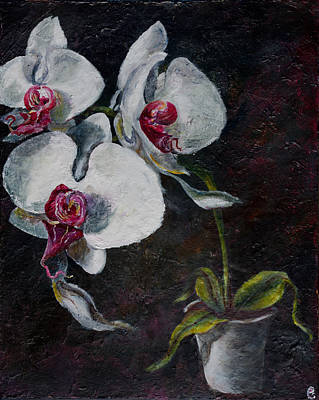 Interference Painting - Three Orchids by Sean Panich