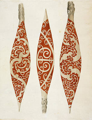 The Country Photograph - Three Paddles From New Zealand by British Library