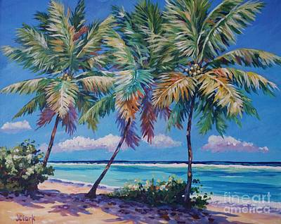 Scuba Painting - Three Palms- East End by John Clark