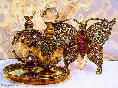 Three Parfume Flacons. 2013 80/60 Cm.  Original by Tautvydas Davainis
