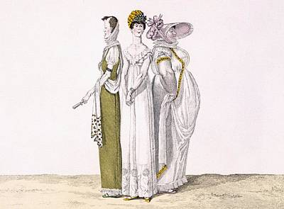 Caricature Drawing - Three Parisian Graces, Plate 16 From Le by French School