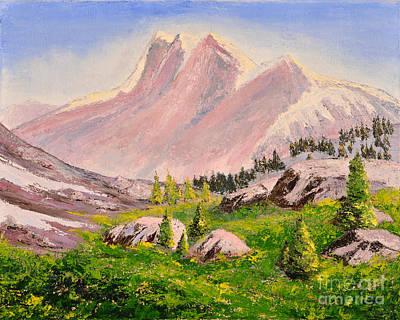 Three Peaks Art Print