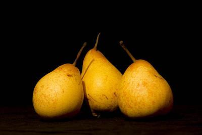 Photograph - Three Pears by Brian Roscorla