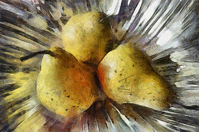 Photograph - Three Pears - Still Life  by Ann Powell