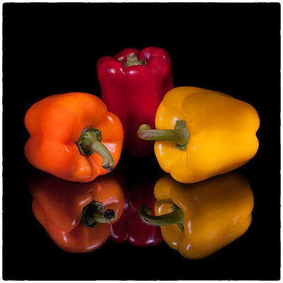 Photograph - Three Peppers by Fred LeBlanc