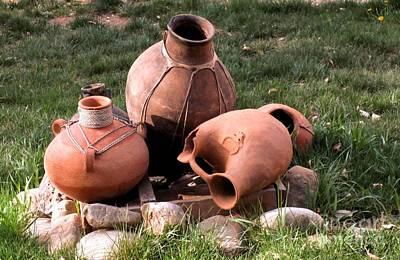 Photograph - Three Pots by Claudette Bujold-Poirier