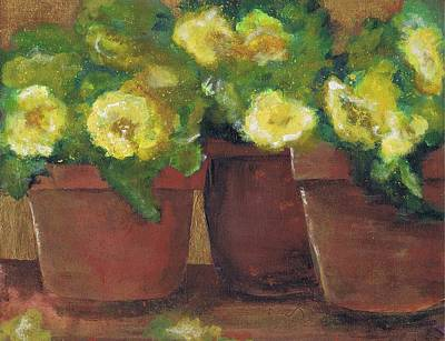 Painting - Three Pots by Marilyn Barton