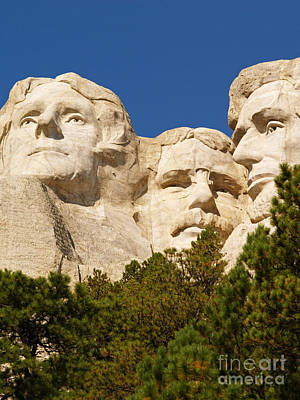 Landscape Photograph - Three Presidents At Mount Rushmore by Alex Cassels