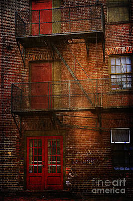 Photograph - Three Red Doors by Terry Rowe