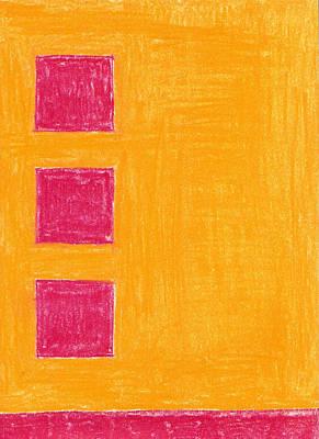 Three Red Squares Art Print