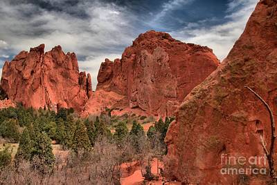 Photograph - Three Red Towers by Adam Jewell