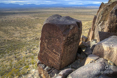 Photograph - Three Rivers Petroglyphs 3 by Bob Christopher