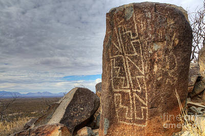 Photograph - Three Rivers Petroglyphs 4 by Bob Christopher