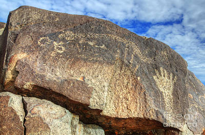 Photograph - Three Rivers Petroglyphs 6 by Bob Christopher