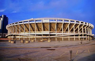 Stadium Scene Photograph - Three Rivers Stadium On Ohio River by Panoramic Images