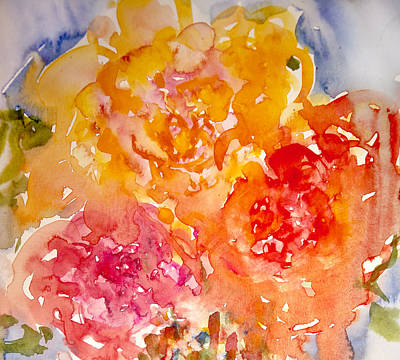 Three Roses Art Print by Linde Townsend