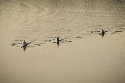 Three Rowers Art Print by Bill Cannon