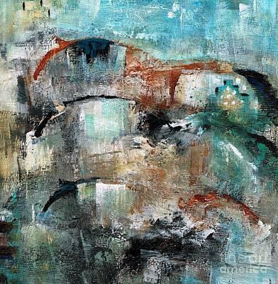 Horse Herd Painting - Three Running Horses by Frances Marino