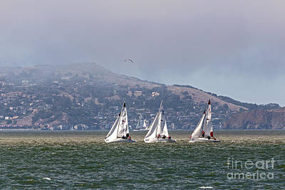 Photograph - Three Sailboats by Kate Brown