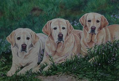 Scoop Painting - Three Scoops Of Vanilla by Debbie Stonebraker