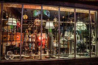 Three Shade Lamp Store Art Print by Mark Goodman