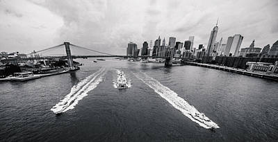 Photograph - Three Ships At The East River by Alex Potemkin