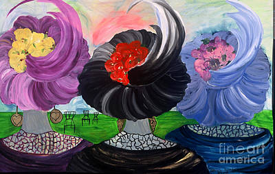 Plume Mixed Media - Three Sisters 5 by Patricia Ann Saunders