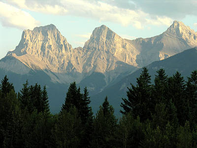 Photograph - Three Sisters Canmore Alberta by Robert Lozen