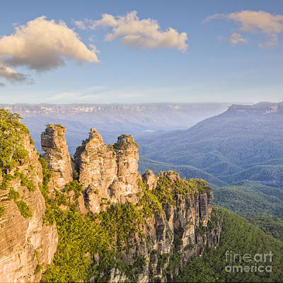 Echo Photograph - Three Sisters Katoomba Australia by Colin and Linda McKie