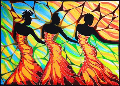 Mayan Painting - Three Sisters by Lee Vanderwalker