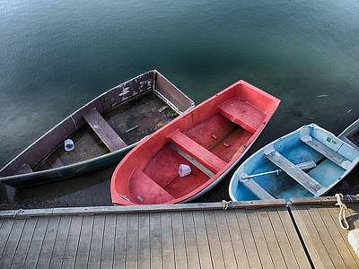 Photograph - Three Skiffs by Pamela Hodgdon
