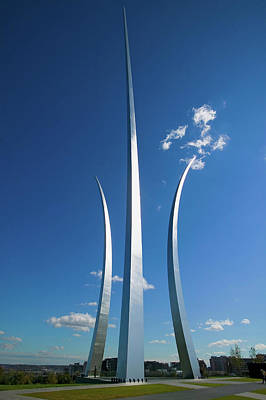 Civil Engineering Photograph - Three Soaring Spires Of Air Force by Panoramic Images