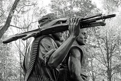Three Soldiers In Vietnam Art Print